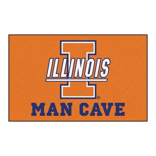 Fanmats Machine-Made University of Illinois Orange Nylon Man Cave Ulti-Mat (5' x 8')
