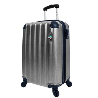 Mia Toro ITALY Lega Spazzolato 25-inch Lightweight Hardside Expandable Spinner Suitcase
