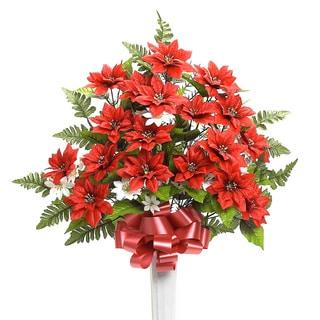 Sage & Co 30-inch Poinsettia Arrangement