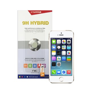 NIC Glasstic 9H Hybrid Skin Tempered Glass Screen Protector for Apple iPhone 5/ 5s