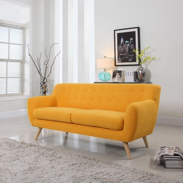 Mid Century Modern Sofa Living Room Furniture - Assorted Colors - 17256235 - Overstock.com ...