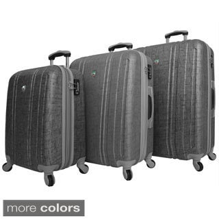 Mia Toro Macchiolina Abrasa Lightweight Hardside 3-piece Spinner Luggage Set