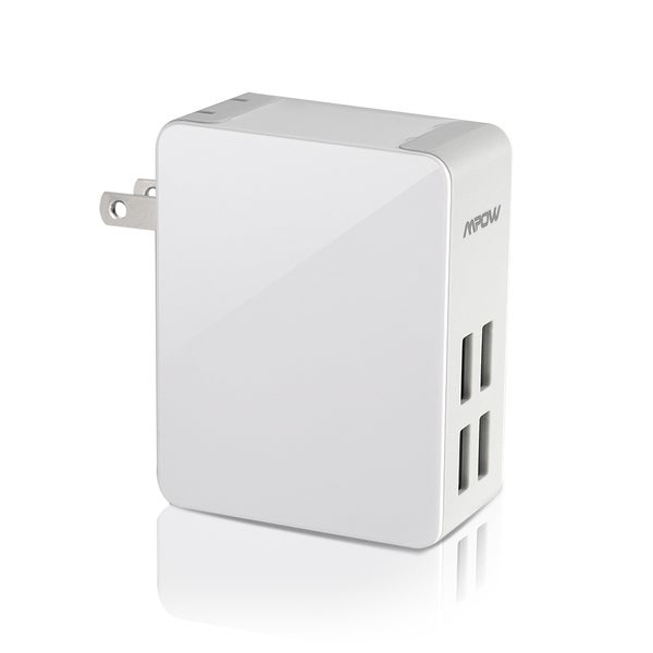 Mpow 25W/5A 4-Port Ultra Portable multiple USB Wall Charger Travel Power Adapter
