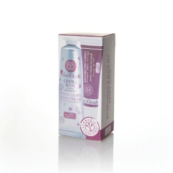 Erbario Toscano Royal Grape Lip Balm and Hand Cream Set