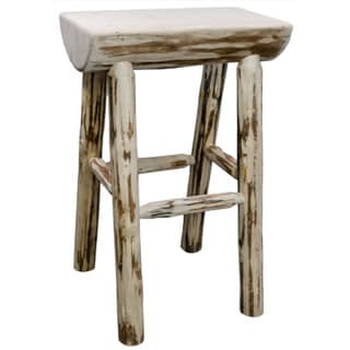 Tire Laquered Backed Barstool