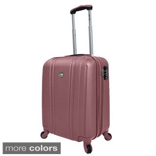 Mia Toro Perla 20-inch Lightweight Hardside Expandable Carry On Spinner Suitcase