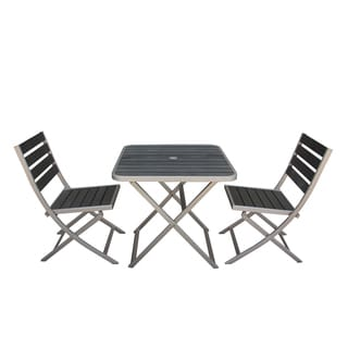 Fresca Polylumber Folding Outdoor 3-piece Dining Set