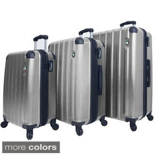 Mia Toro ITALY Lega Spazzolato Lightweight Hardside 3-piece Spinner Luggage Set