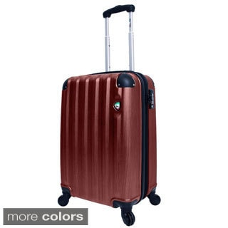 Mia Toro Lega Spazzolato 21-inch Lightweight Hardside Expandable Carry On Spinner Suitcase