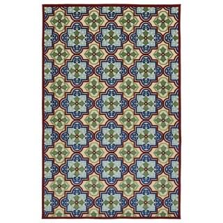 Indoor/Outdoor Luka Multi Tile Rug (3'10 x 5'8)