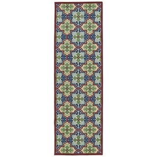 Indoor/Outdoor Luka Multi Tile Rug (2'6 x 7'10)