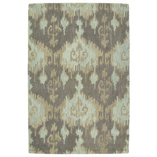 Manhattan Hand-Tufted Mint Ikat Rug (5'0 x 7'6)