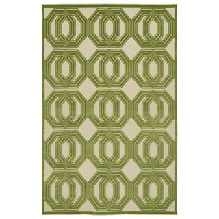 Indoor/Outdoor Luka Green Geo Rug (8'8 x 12'0)