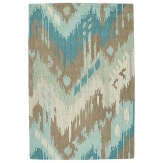 Manhattan Hand-Tufted Mint Ikat Rug (7'6 x 9'0)