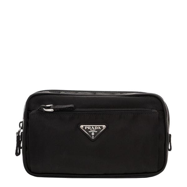 Prada Black Technical Fabric Belt Bag - 17256792 - Overstock ...