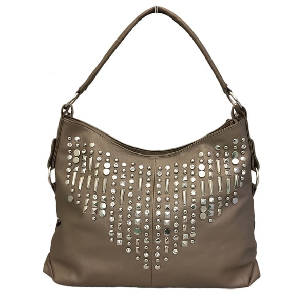Bronze Studded Shoulder Bag
