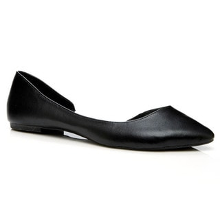 Charles Albert Cut-out Pointy Toe Ballerina Flat