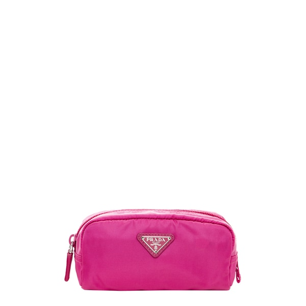 Prada Vela Hot Pink Nylon Cosmetic Case