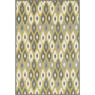 Indoor/ Outdoor Palm Citron/ Multi Rug (2'3 x 3'9)
