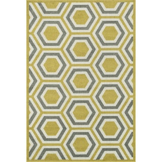 Indoor/ Outdoor Palm Geo Rug (7'10 x 10'9)