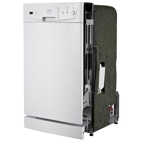SPT Energy Star 18-inch Built-In Dishwasher - White