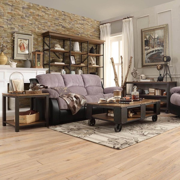 Industrial Storage Coffee Table Review: Granger Industrial Rustic Storage Occasional Table