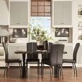 Danbury Faux Marble Top X-frame Base Dining Set