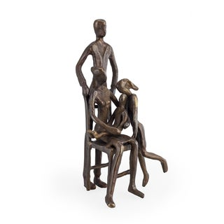 Danya B. Family of Four with Older Sister Bronze Sculpture