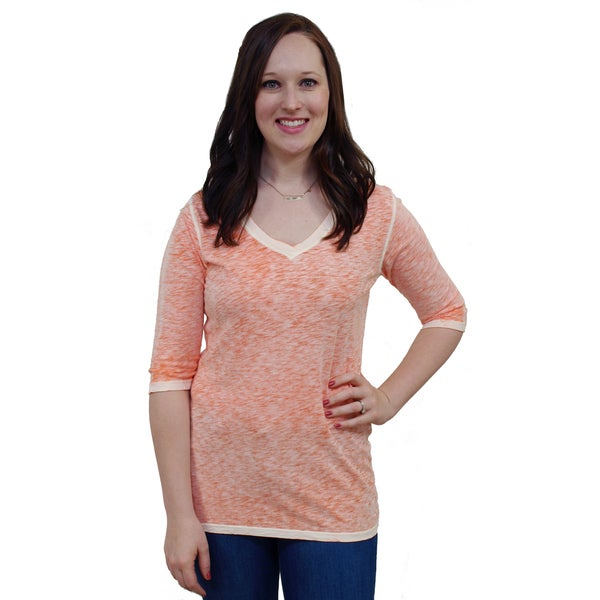 Artisans Apparel Megan Scooped Half Sleeve V-neck Tee