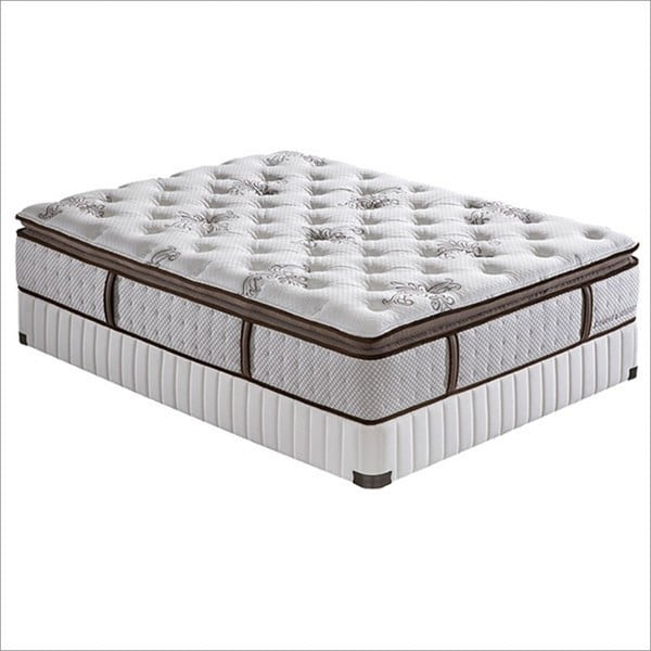 Stearns and Foster 14-inch King-size Jacalyn Countoured Pillow Top Pocketed Coil Mattress Set