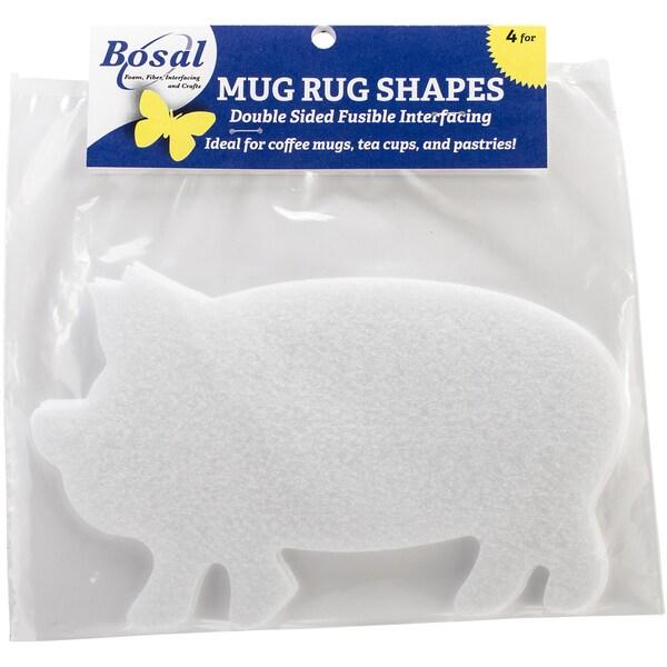 CrafTex Mug Rug ShapesPig 7.5inX4.5in 4/Pkg