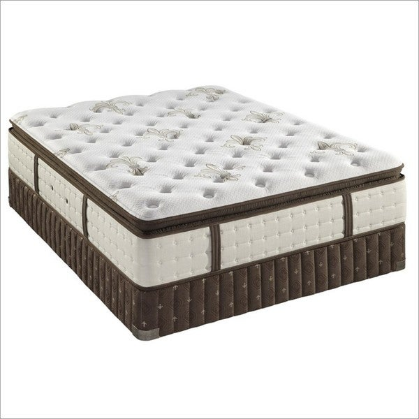 Stearns and Foster 14.5-inch King-size Lily-Rose Pillow Top Luxury Plush Mattress Set