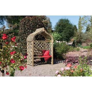 English Garden Jaipur Wooden Arbor with Seat