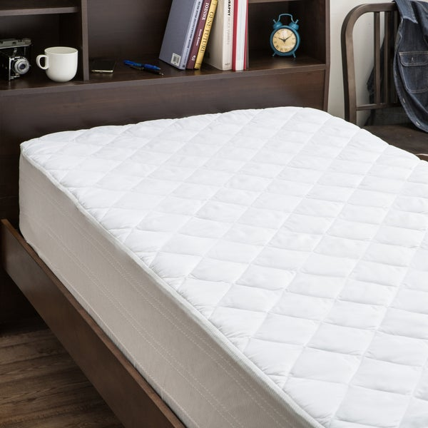 Back to Campus Twin XL Dorm Microfiber Waterproof Mattress Pad Protector