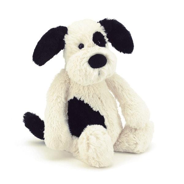 Jellycat Bashful Black and Cream Puppy