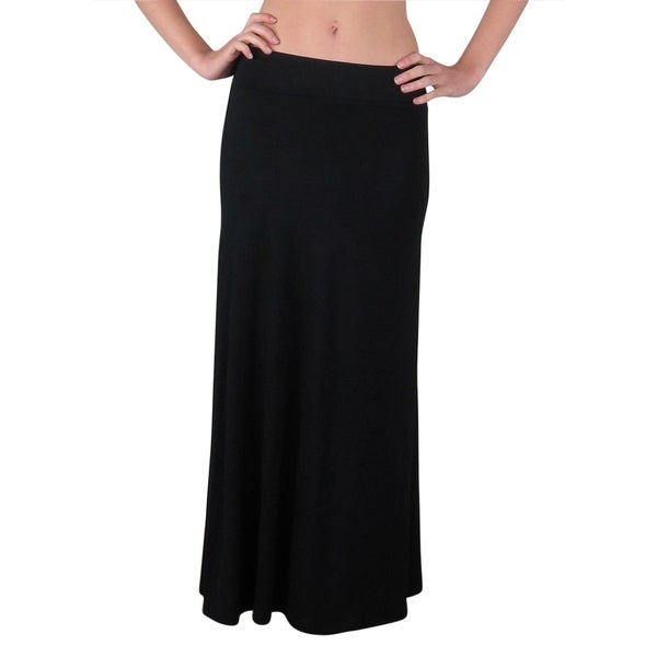 FTL Women's Foldover High Waisted Flowy Maxi Skirt (As Is Item)