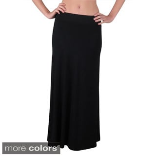 Free To Live Women's Foldover High Waisted Flowy Maxi Skirt