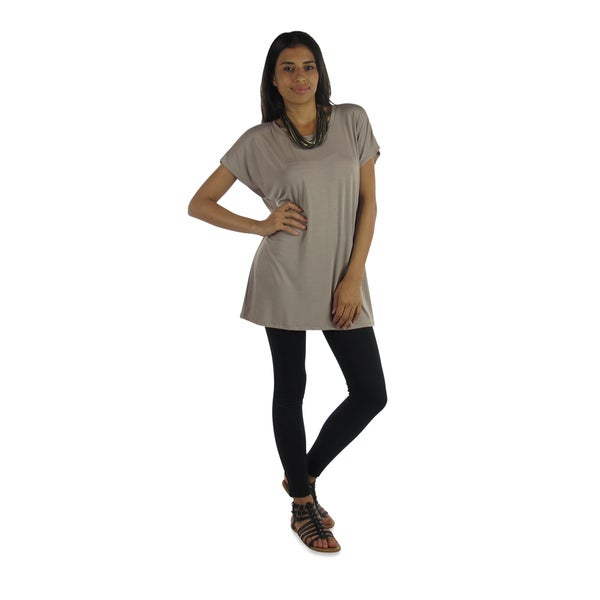 Free To Live Women's Long Kimono Sleeve Loose-fit Tunic