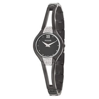 Pulsar Women's 'Easy Style' Stainless Steel Black Ion Plated Quartz Watch