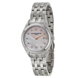 Baume and Mercier Women's 'Clifton' Stainless Steel Swiss Quartz Watch