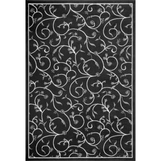 Demi Vines Black Area Rug (7'9 X 11')