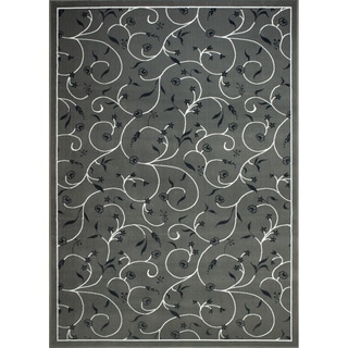 Demi Vines Grey Area Rug (7'9 X 11')