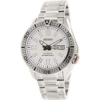 Seiko Men's 5 Automatic SKZ323K Saddle Stainless Steel Automatic Watch