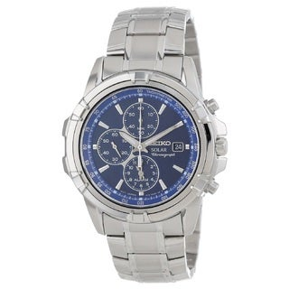 Seiko Men's SSC141 Stainless Steel Solar Alarm Chronograph