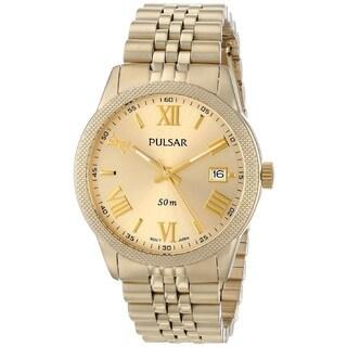 Pulsar Women's PS9218 Gold Tone Stainless Steel Boyfriend Watch