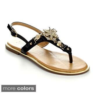 Pazzle NICKI-01 Women's Open Toe Slingback Sandals