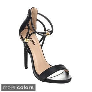 Pazzle SPRING-24 Women's Open Toe Platform Stiletto Heels