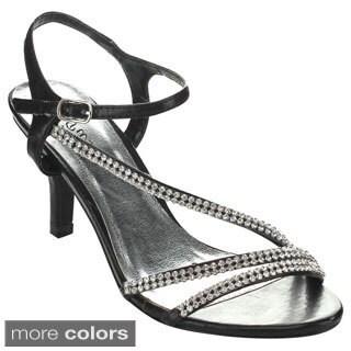 Bella Luna SUSIE-02 Women's Open Toe Chic Rhinestone Strappy Heels