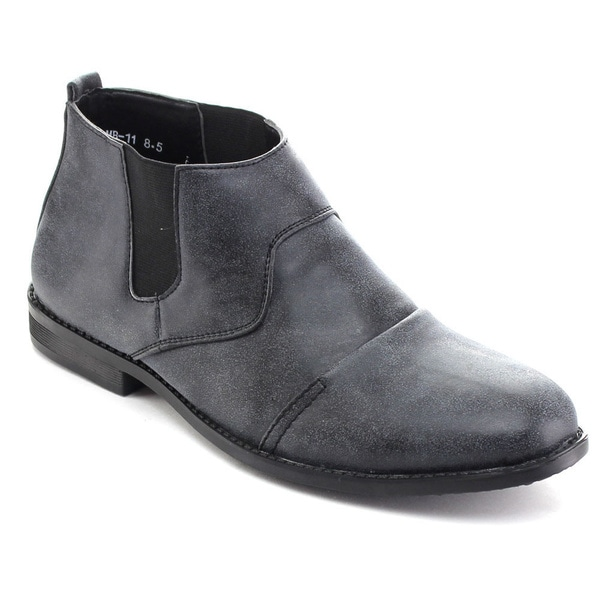 Rocus MB-11 Men's Elastic Panel Slip On Chelsea Ankle Boots