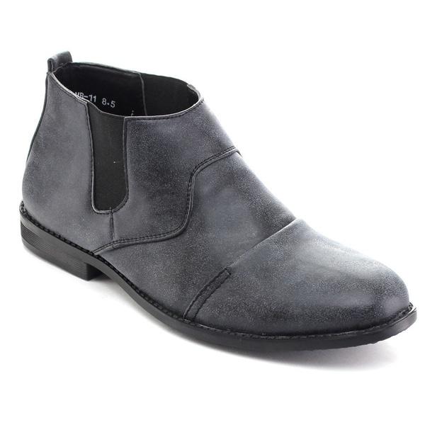 Rocus MB-11 Men's Elastic Panel Slip On Chelsea Ankle Boots